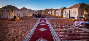 Tents of Merzouga Sahara Camp at Erg Chebbi, Morocco